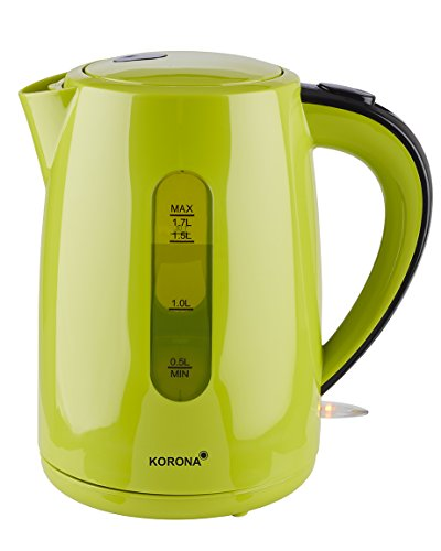Korona 20133 Bouilloire | 1,7 litre de capacité | rouge | Bouilloire puissante | avec station de base à 360