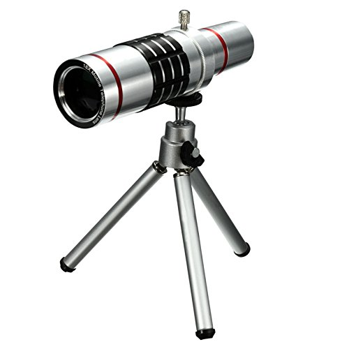 Best Shopper - Replacement Universal 18X Zoom HD Telephoto Phone Lens Optical Telescope Camera with Tripod Compatible with Smartphones iPhone Samsung