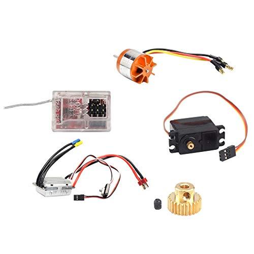 GENFALIN Accesorios de radio escoba + Esc + servo motor Motorreductor + + receptor for el coche de RC RC Feiyue FY-01 AF-02 AF-03 AF-04 AF-05