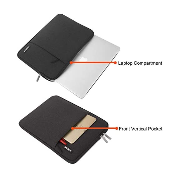 MOSISO Laptop Sleeve Bag Only Compatible with MacBook 12 inch with Retina Display A1534 2017/2016/2015 Release… 4 Internal dimensions: 12.4 x 0.79 x 9.45 inches (L x W x H); External dimensions: 13 x 0.79 x 10.04 inches (L x W x H). The front vertical side pocket dimensions: 9.25 x 9.25 inches (L x W). Made with high quality polyester material, a top opening zipper gliding smoothly and allows convenient access to your device. Slim and lightweight, does not bulk your device up and can easily slide into your briefcase, backpack or other bag. Extra pocket in front provides enough space to keep MacBook mouse, earphone, pens and notepads, offering added convenience.