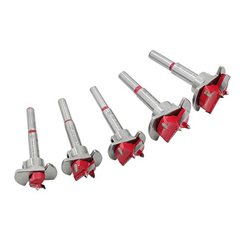 Useful Drill Bit Set, 15 20 25 30 35mm Wood Drill Cutter Hexagon Wrench Woodworking Power Tool Hole Opener Industrial Power Tools (Color : 2)