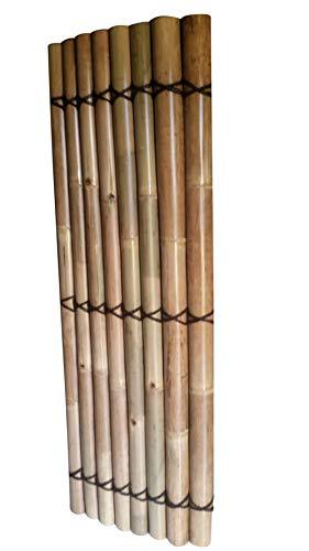 MGP Split Timber Bamboo Fence with Black Bamboo Twine, 4'W x 6'H