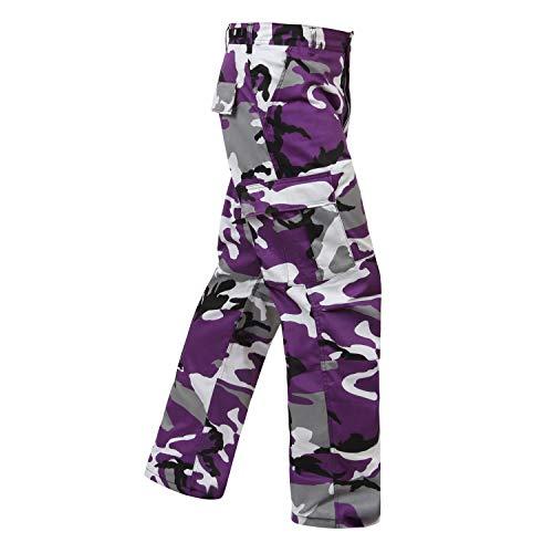 Rothco Camo Tactical BDU (Battle Dress Uniform) Military Cargo Pants, Ultra Violet Camo, M