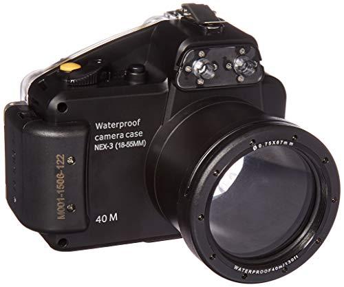 Polaroid Dive Unterwassergehäuse für Sony Alpha NEX-3 Digitalkamera mit 18-55 mm Objektiv
