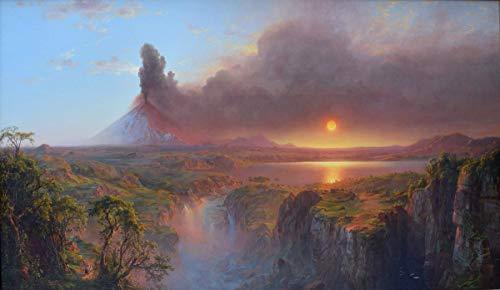Berkin Arts Frederic Edwin Church Giclée Leinwand Prints Gemälde Poster Reproduktion(Cotopaxi Ecuador)