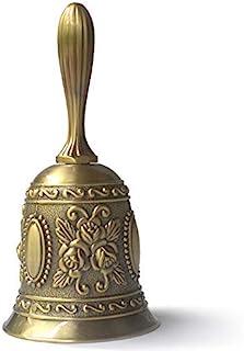 Hand Bell Call loud Wedding Bells Gold Silver Multi-Purpose Bells for Craft Alarm School Church Classroom Bar Hotel Vintag...