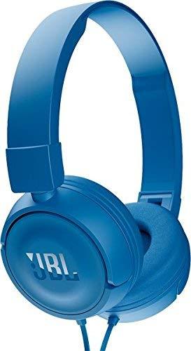 JBL T450 Extra Bass On-Ear Headphones with Mic (Blue)