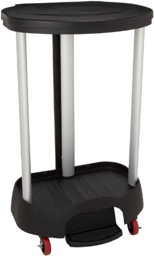 Rubbermaid Commercial FG630000BLA Executive Series Step-On Linen Hamper, Black by Rubbermaid Commercial Products