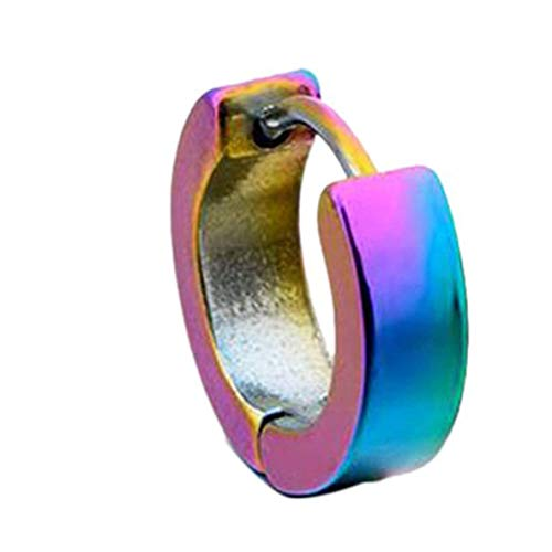 Pendant Necklace Classic Design Men Women Titanium Steel Earrings Simple Unisex Small Circle Stud Earrings Ear Clips Ear Cuff Jewelry Gift