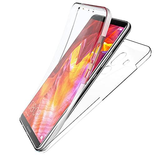 N NEWTOP Cover Compatibile con Huawei Mate 10 PRO, Custodia Crystal Case in TPU Silicone Gel PC Protezione 360° Fronte Retro Completa
