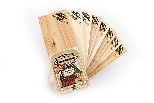 Axtschlag Grillbretter Zeder, 8er BBQ Party Pack Wood Planks zum schonenden Garen mit aromatischer Rauchnote und Servieren, für alle Grills, 300x110x11 mm, mehrfach verwendbar