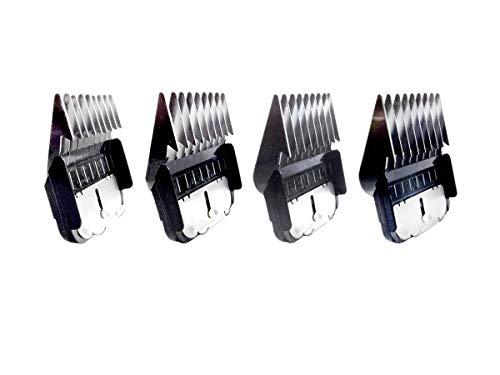 Masterclip Lot de 4 peignes en métal pour tondeuse A5 (3 mm, 6 mm, 10 mm, 13 mm)
