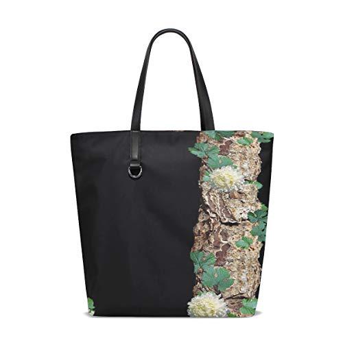 Women Alphabet Letter J Rustic Timber Bark Handle Satchel Handbags Shoulder Bag Tote Purse Messenger Bags