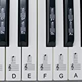 Pegatinas para pianos o teclados, juego de hasta 88 pegatinas para teclas, para teclas blancas y negras, laminadas PSBW 88