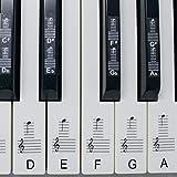 Pegatinas para pianos o teclados, juego de hasta 88 pegatinas para teclas, para teclas blancas y neg...