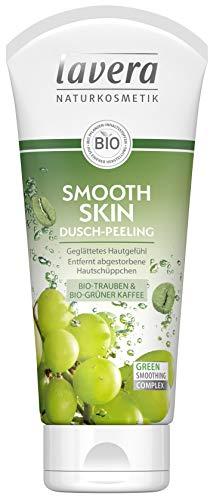 lavera Smooth Skin Dusch-Peeling Bio Trauben & Bio grüner Kaffee ∙ Geglättetes Hautgefühl ∙ Vegan Bio Pflanzenwirkstoffe Naturkosmetik Natural & innovative...