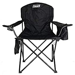 coleman quad camping chair with cooler best folding camp chair