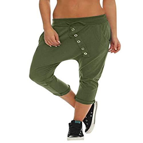 Bloomers Pantalones De Harén Casual De Modernas Fácil Algodón con Los Pantalones De Los Pantalones del Verano Bolsa De Ocio Cortocircuitos De Mujer Alto con Pantalones Tapeta En Colores Sólidos