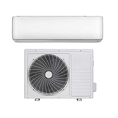 9000 BTU Smart WiFi A++ Easy-fit DC Inverter Wall Split Air Conditioner with 5 Meters Pipe kit - Wall Mounted Air Conditioning Unit with 5 Years Warranty