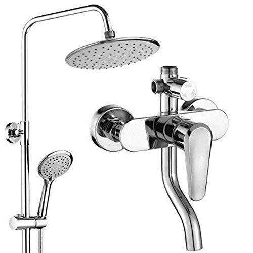 YINGGEXU Juego de Ducha Caballamiento de Cobre Conjunto de Ducha de Agua de Tres velocidades de Tres velocidades de baño de baño de baño, Conjunto de Ducha de Refuerzo Duradera
