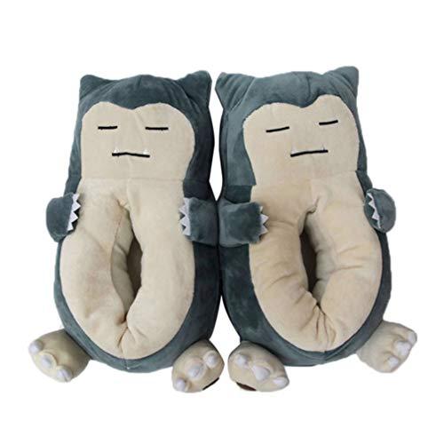 Zapatillas Zapatillas de Felpa Snorlax de algodón de Invierno de Anime