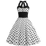 EMPERSTAR Vestido Vintage para Mujer 1950'S Classy Retro Ploka Dot Cóctel Fiesta De Noche Vestido De Baile De Graduación...