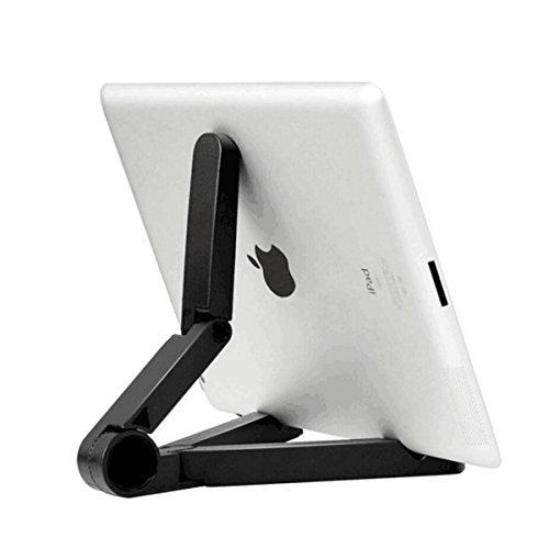 UKCOCO Atril ajustable para tablet soporte de Multiángulo Universal Portátil Plegable para Tablet ipad Xiaomi eReaders (Negro)