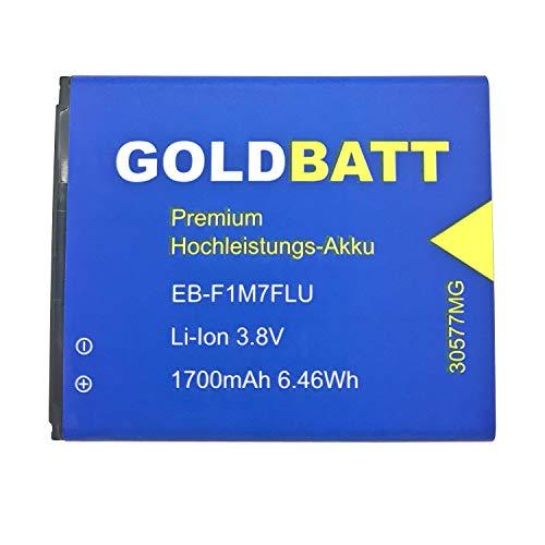 Goldbatt Akku für Samsung Galaxy S3 mini i8160 Ace 2 EB425161LU Ace2 i 8190 S7560 S7562 Smartphone S 3 Ace2 Trend DuoS Premium Hochleistungs-Akku EB425161LU EB-F1M7FLU handy ersatzakku 100% kompatibel