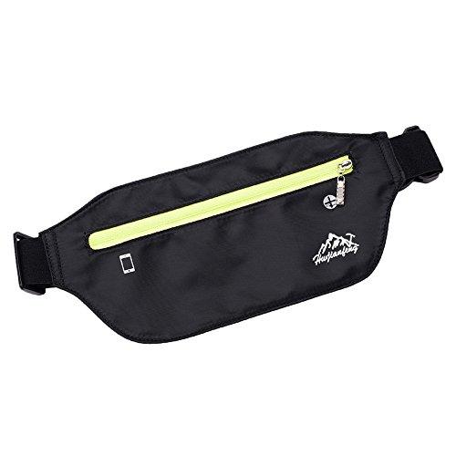 MEIbax Damen Outdoor Sport neutrale Reine Farbe wasserabweisend Nylon Messenger Bag Brusttasche fahrradtasche Kleinen Rucksack Umhängetasche (Black)