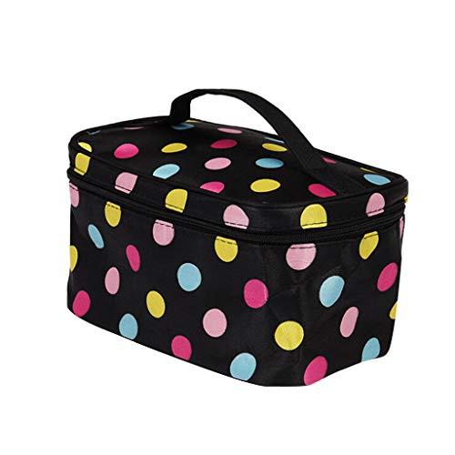 Travel Large Capacity Toiletry Wash Bag Waterproof Makeup Cosmetic Organiser Ideal Gift for Women Girls Kids (F)