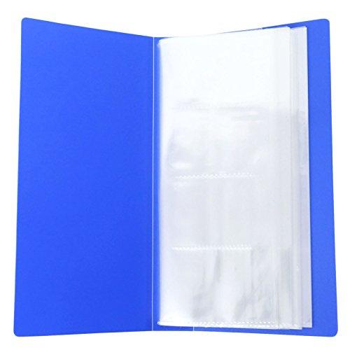 480 visitekaartjeshouder, journaal-documenten, creditcard-vakje, naamkaartjes, mappen, bezoekkaartenhouder Pack of - 1 blauw