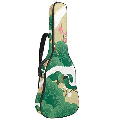 Bolsa de guitarra clásica japonesa acolchada para guitarra, bolsa de transporte de tamaño completo, mochila protectora impermeable con asa de transporte para guitarras acústicas, clásicas y eléctricas