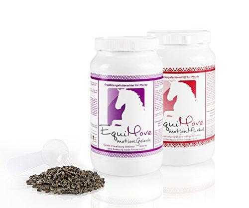 EquiMove motion Gelenk und EquiMove motion Muskel: je eine Dose (1,5 kg) - Ergänzungsfuttermittel in der Spar-Kombination. Für Pferde mit Gelenk- und Muskelproblemen. Optimale Ergebnisse!