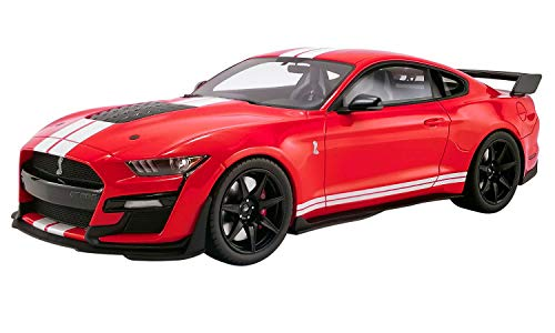 2020 Ford Mustang Shelby GT500 Race Red with White Stripes 1/18 Model Car by GT Spirit for Acme US021