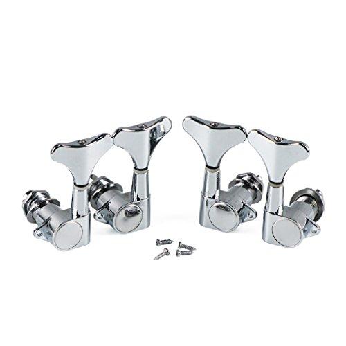 IKN 2L2R Verzegelde Stijl Bastuner 2 Links 2 Rechts Gitaar String Tuning Pinnen Keys Machine Heads Set voor 4 String…