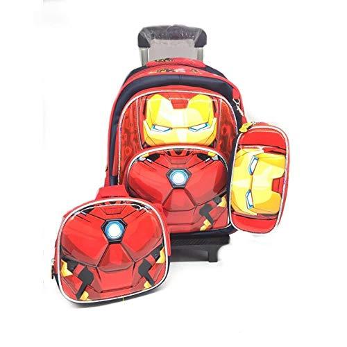 Hokaime School Iron Man Trolley Case Maleta/Boys Cartoon Print Suitcase On Wheels/Kids EVA Superhero...