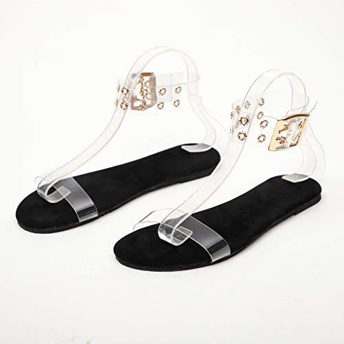 Sandalen Dames Transparante Flats Schoenen Grote Maat Dames Clear Schoenen Dames Romeinse strandschoen
