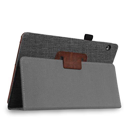Fintie Huawei Mediapad T3 10 Hülle Case - Ultra Schlank Folio Stoff Schutzhülle Case mit Standfunktion für Huawei MediaPad T3 (9,6 Zoll) 24,3 cm Tablet-PC, Denim dunkelgrau - 5