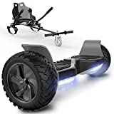 SOUTHERN-WOLF Hoverboard 8.5' avec Hoverkart, Gyropode Auto-équilibré Overboard Bluetooth avec indicateur LED