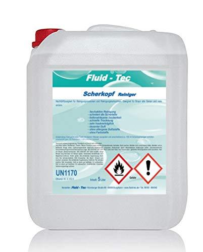Fluid-Tec 5 Liter Scherkopfreiniger Reinigungsflüssigkeit Nachfüllflüssigkeit kompatibel mit Braun Elektro Rasierer Nachfüllflüssigkeit für Reinigungskartusche Reinigungsstation 3/5/7/9 + Auslaufhahn