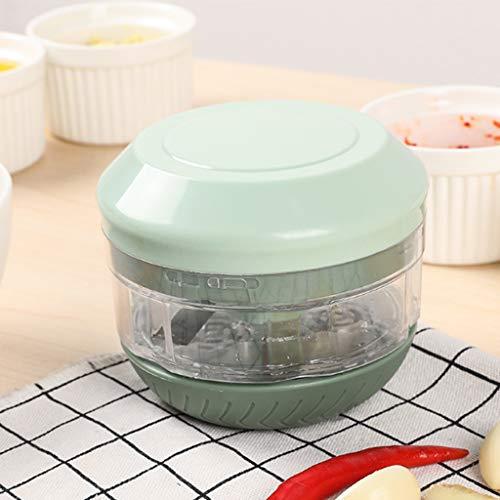 ZHIRCEKE - Agitateur multifonction - Mini hachoir manuel - Convient pour hacher l'ail, le gingembre, l'oignon et le robot de viande désossé - A