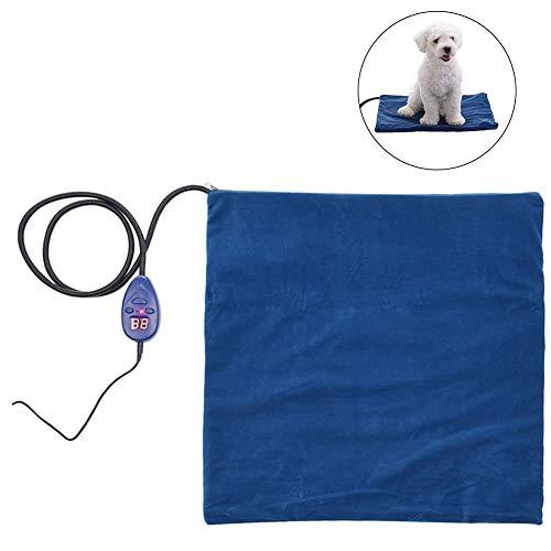 Mallalah Warmtekussen voor huisdieren, elektrisch, voor katten en honden, kauwgom, robuuste kabel, 15 W, 40*30CM