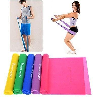 ZEH Verde/púrpura/Rosa/Amarillo/Azul TPR Venda del Estiramiento de Pilates Banda de Resistencia PowerTraining FACAI (Color : Pink)