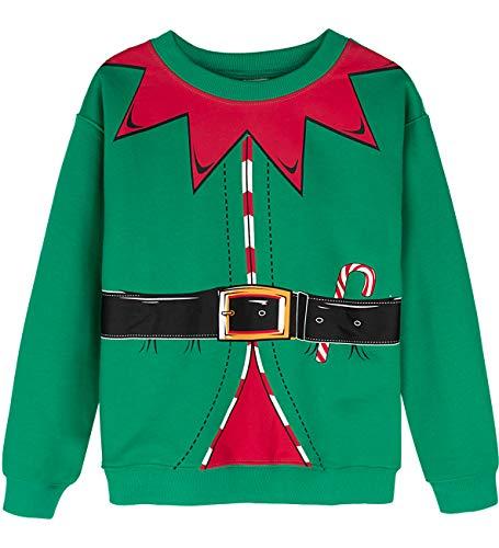 MOMBEBE COSLAND Felpa Elfo Bambino Natale Costume (M, Elf)