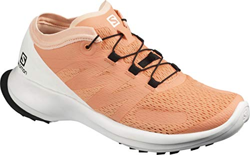 Salomon Damen Shoes Sense Flow Laufschuhe, Mehrfarbig (Cantaloupe/Weiß/Bellini), 37 1/3 EU