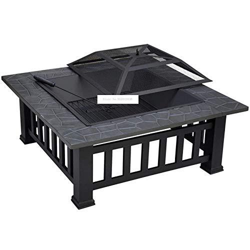Mesa multifunción para barbacoa de hierro forjado