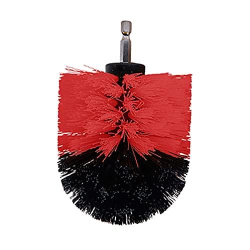 5pcs 3.5in Power Scrubber Taladro de perforación Cepillo de la Rueda de Lavado de cepillos de Lavado para Llantas Lavado de baño Tina de baño Limpieza de Ducha (Color : Red)