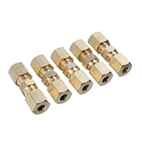 AIMUMU HUI Conector de Kits de compresión reductores Rectos Reductor Recto 3/16' Sobredosis Líneas de Freno hidráulico Tubo 33 x 10 mm