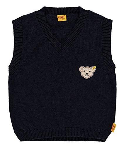 Steiff Baby-Jungen Pullunder 6712951 Pullover, Blau (Marine 3032), 68
