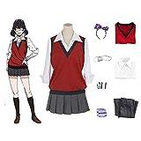 JTLB Jabami Yumeko Cosplay Kakegurui Anime Disfraz Ikishima Midari Cosplay Disfraz JK Uniforme Falda plisada Yomozuki Runa Chaqueta Uniforme para Halloween